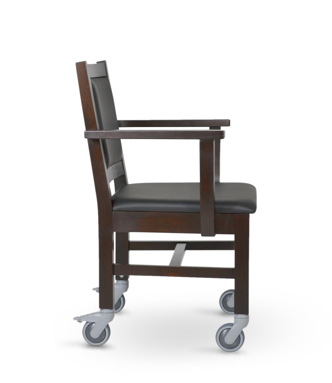 Stuhl für Schwergewichtige TRIER mit Rollen direkt vom